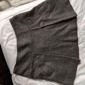 Woollen mini skirt